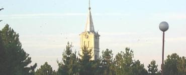 A Szent Anna templom tornya Galagonyáson